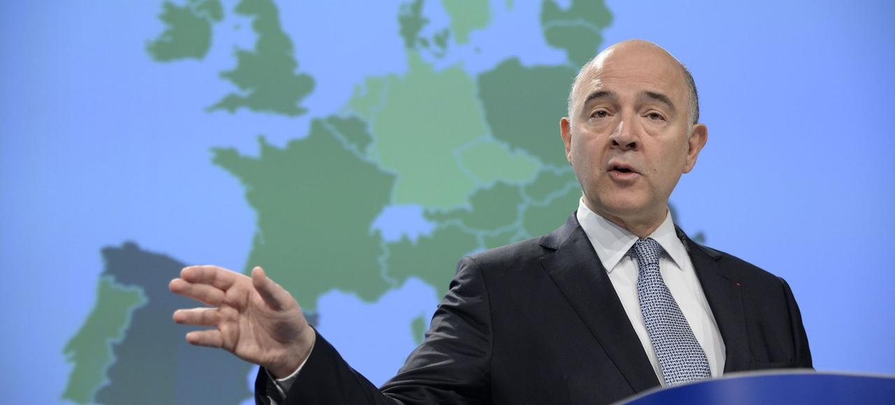 Pierre Moscovici, commissaire européen aux Affaires économiques, jeudi, à Bruxelles