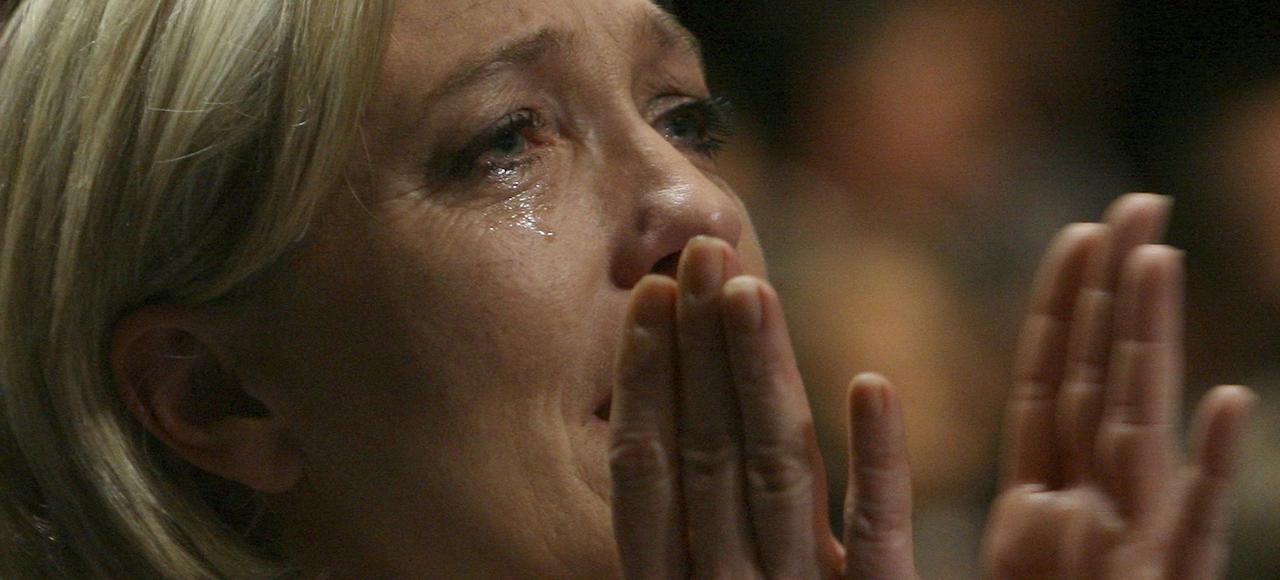 Marine Le Pen à Tours en 2011.