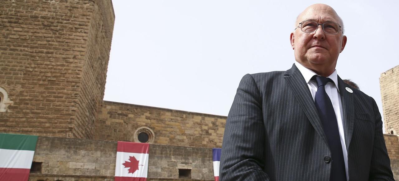 Michel Sapin, vendredi à Bari, où s'est déroulé le G7 des ministres des Finances.