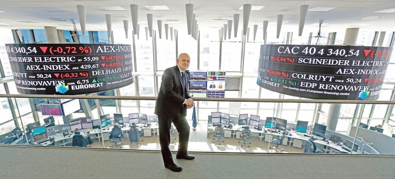 Le PDG d'Euronext, Stéphane Boujnah, au siège de l'opérateur à Courbevoie (Hauts-de-Seine).
