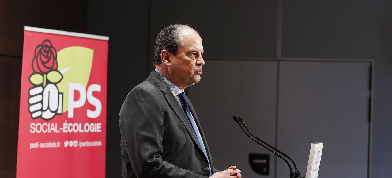 Jean-Christophe Cambadélis, le 9 mai, à La Mutualité, à Paris.