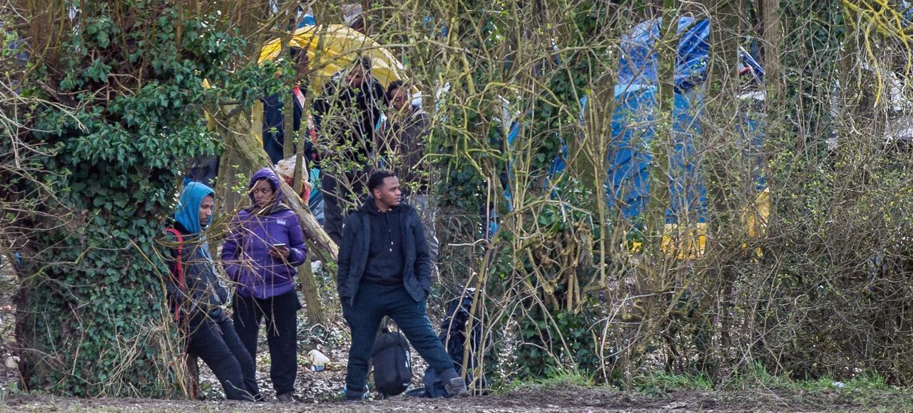 Le campement de Steenvoorde a émergé en quelques jours.
