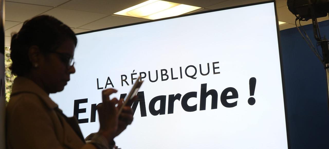 Lors d'une conférence de presse sur les investitures législatives de la République en marche, le 11 mai à Paris.