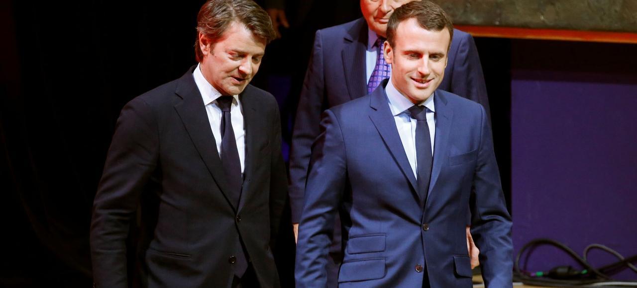 François Baroin et Emmanuel Macron, en mars dernier.
