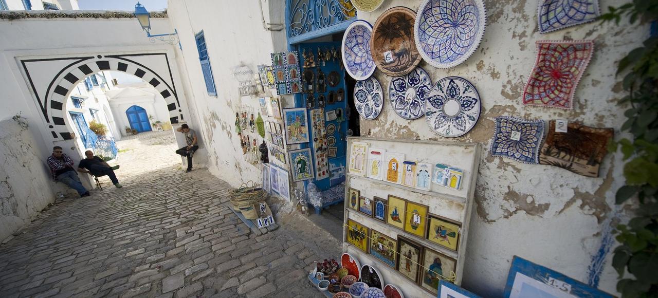 Une rue du village de Sidi Bou Saïd. Photo d'illustration.