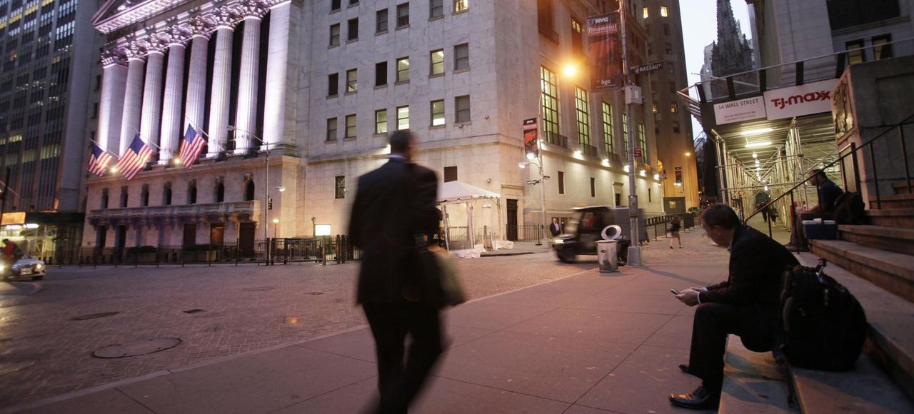 Quartier de Wall Street, à New York.