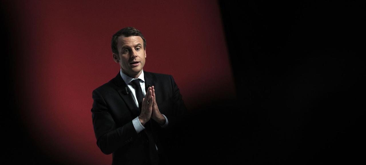 Emmanuel Macron le 28 avril 2017 à Châtellerault.