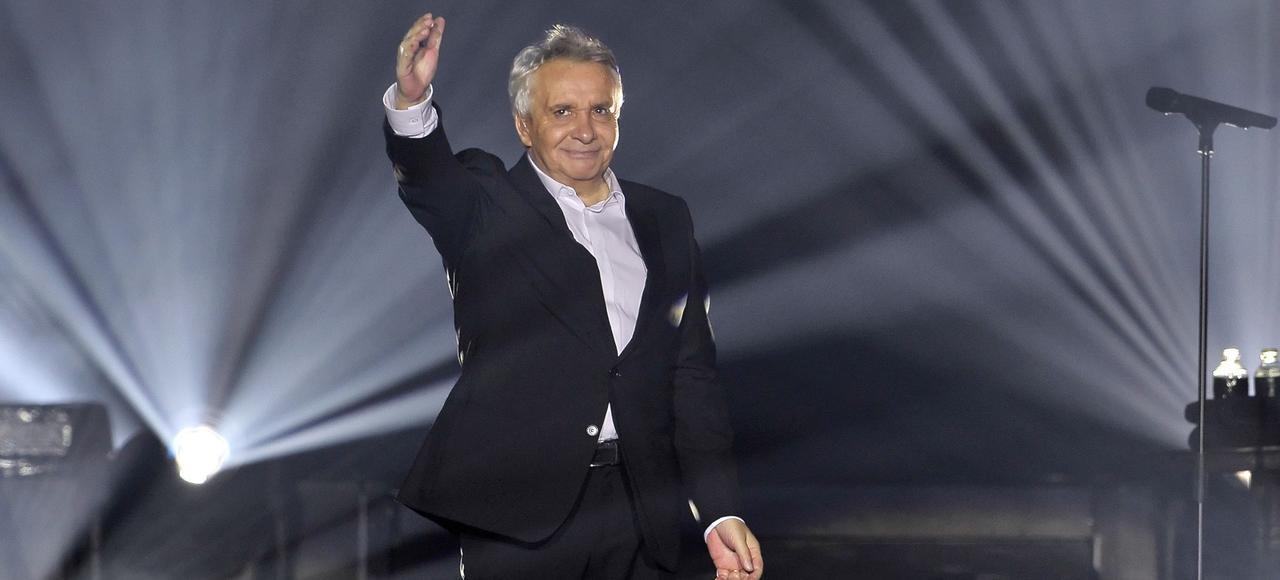 Michel Sardou en concert en 2012.