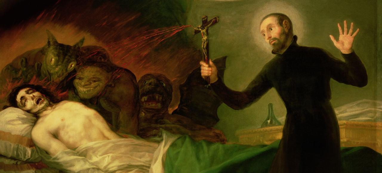 Un exorcisme majeur se déroule comme une liturgie de la parole: lectures de textes de la Bible, prières de litanies, profession de foi, imposition des mains et formule de l'exorcisme.