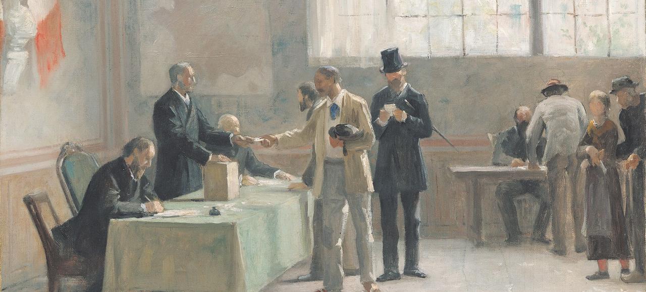 <i>Le Suffrage universel</i>, Alfred-Henri Bramtot, 1888.