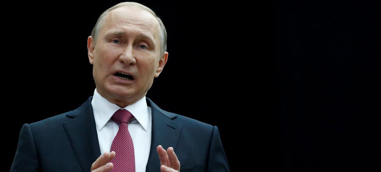 Vladimir Poutine, répondant aux questions des téléspectateurs, le 15 juin, .
