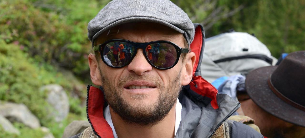 Sylvain Tesson lors de l'ascension de la Barre des Écrins, en 2014.