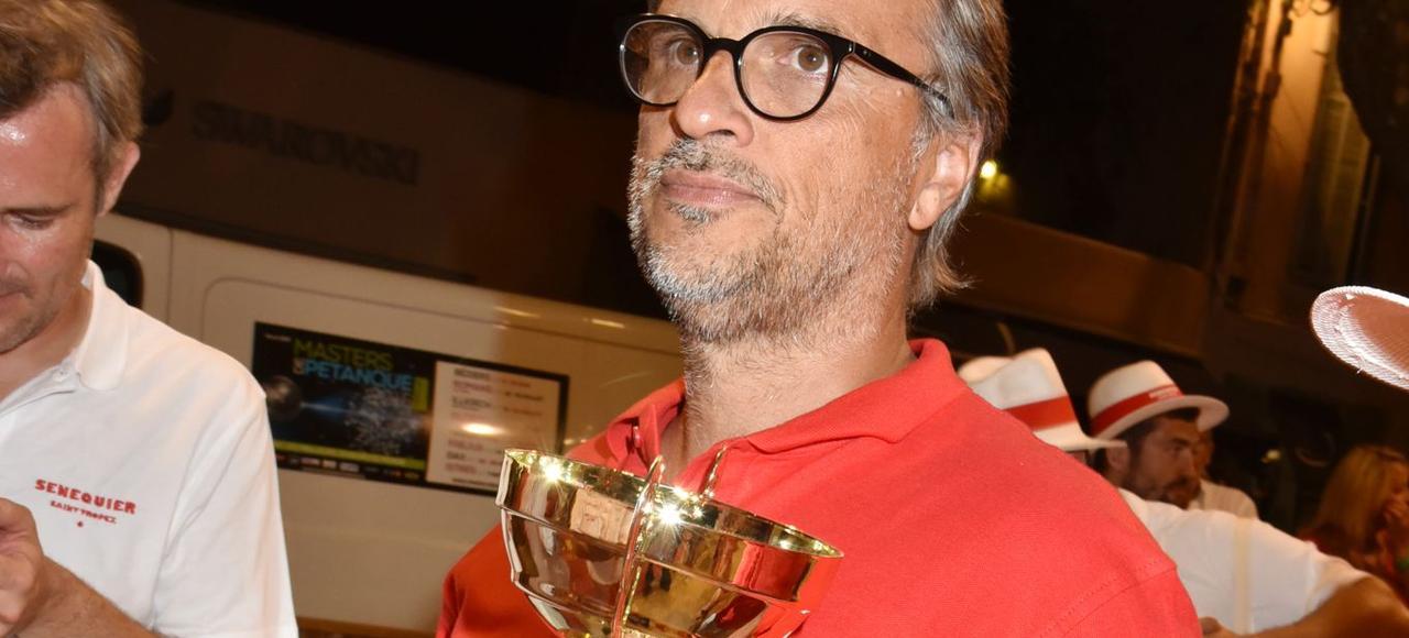 Thierry Bourdoncle en 2016, lors du tournoi de pétanque organisé par le Sénéquier à Saint-Tropez.