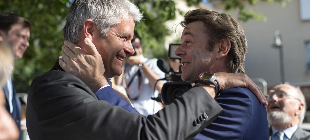 François Baroin et Laurent Wauquiez, le 23 mai.