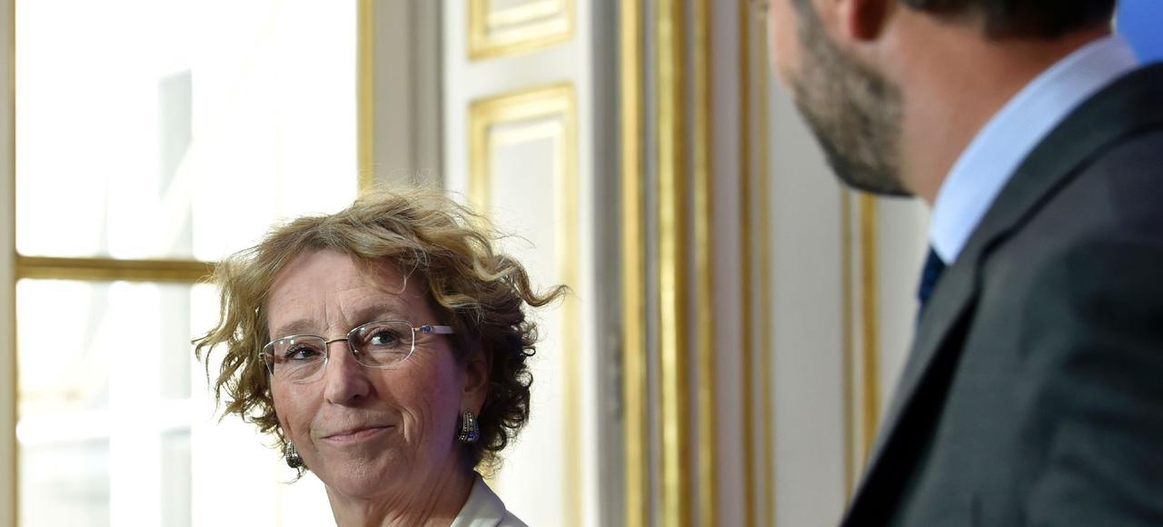 Muriel Pénicaud, le 6 juin, lors d'une conférence de presse sur la réforme du code du Travail avec le premier ministre Edouard Philippe.