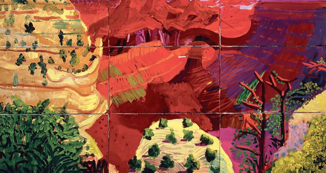 «Canvas Study of the Grand Canyon», 1998, de David Hockney.