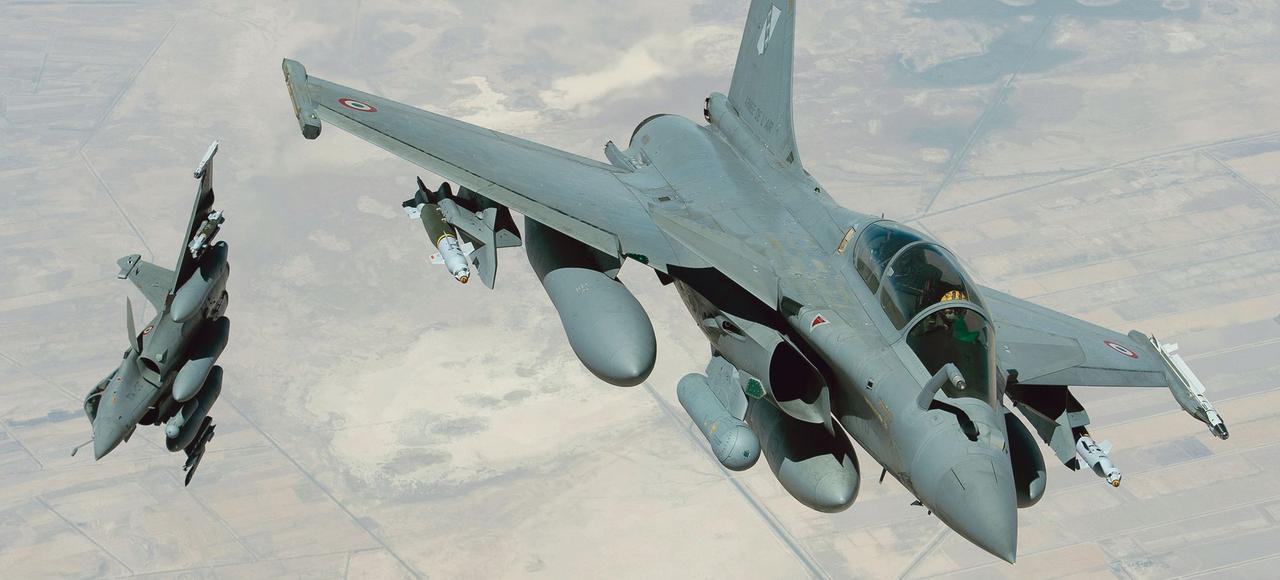 Des avions Rafale en mission de bombardement au-dessus de l'Irak.