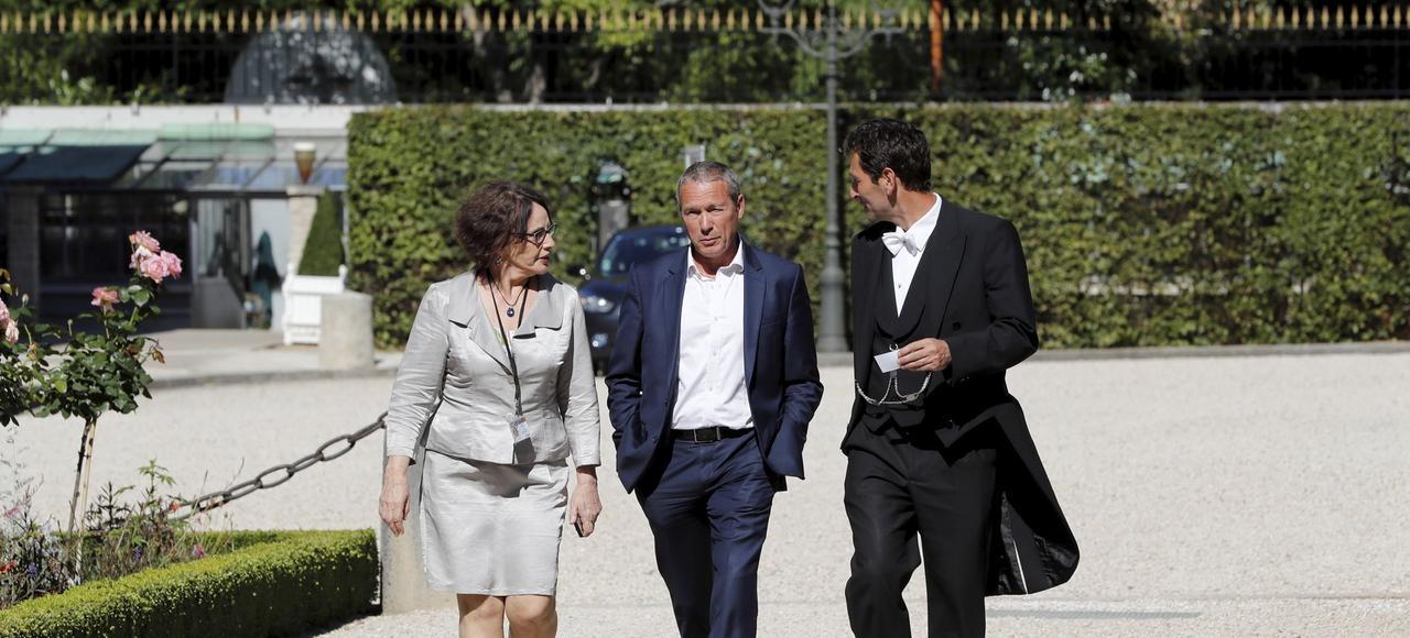 Jean-Michel Fauvergue, ancien patron du Raid, lors de son arrivée à l'Asssemblée nationale.