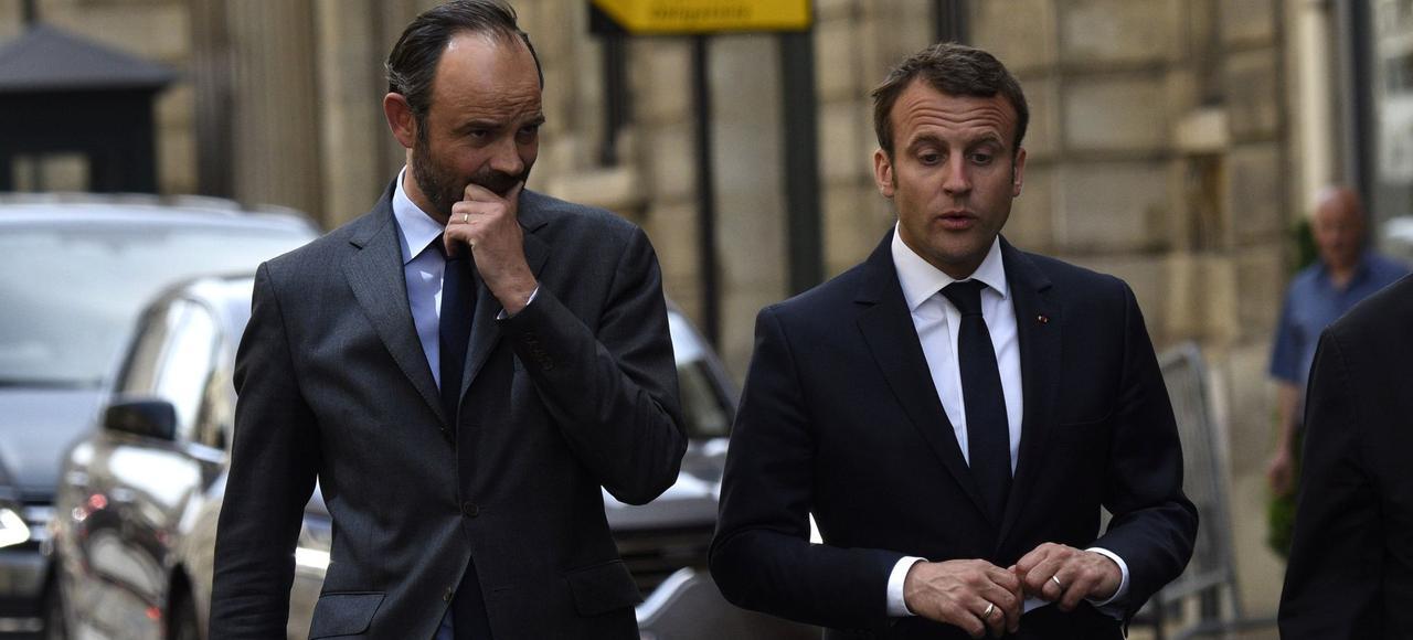 Édouard Philippe, le premier ministre, et Emmanuel Macron, le président de la République, le 23 mai à Paris.