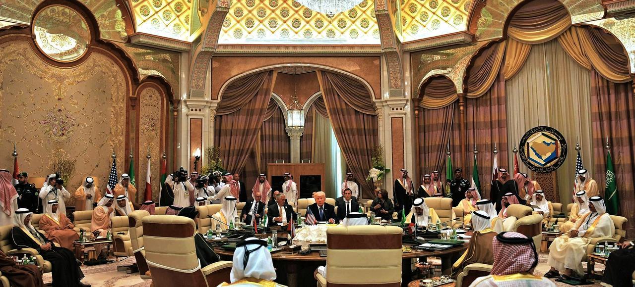 Le Conseil de coopération du Golfe lors de la reception de Donald Trump, le 21 mai dernier.