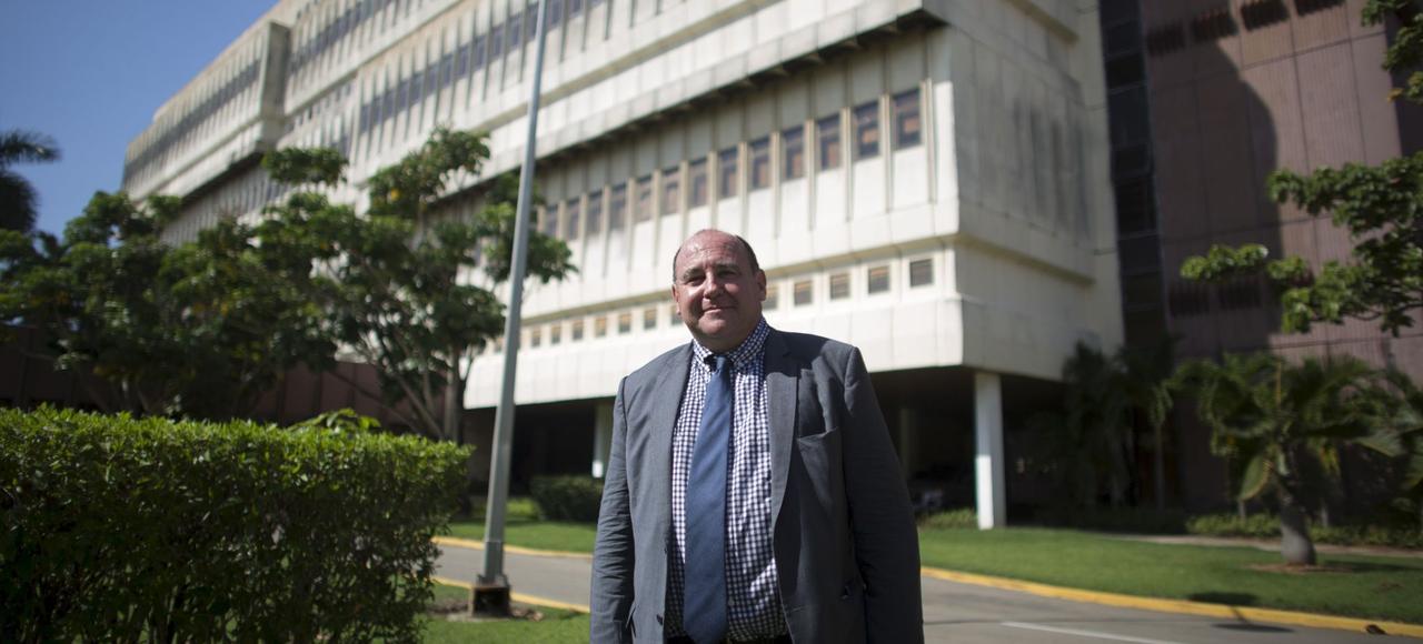 Philippe Pouletty, directeur général et fondateur de Truffle Capital, à la Havane (Cuba), le 8 juin 2015.