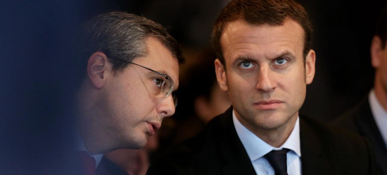 Alexis Kohler, aujourd'hui secrétaire général de l'Elysée, avec Emmanuel Macron, en octobre 2016.