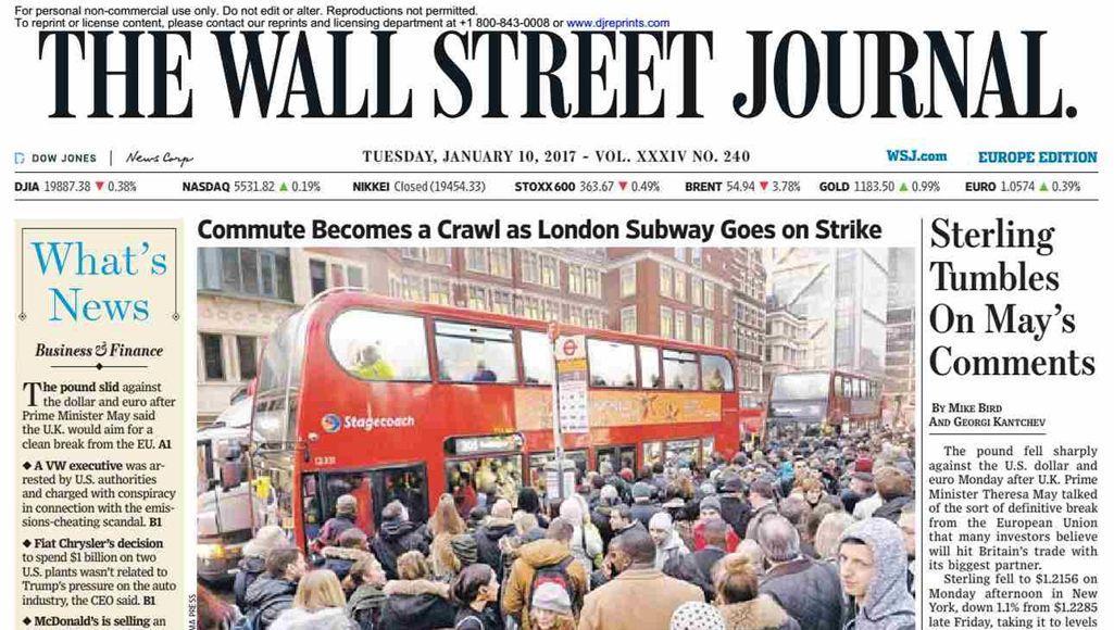 <i>The Wall Street Journal</i> abandonne son édition papier en Europe