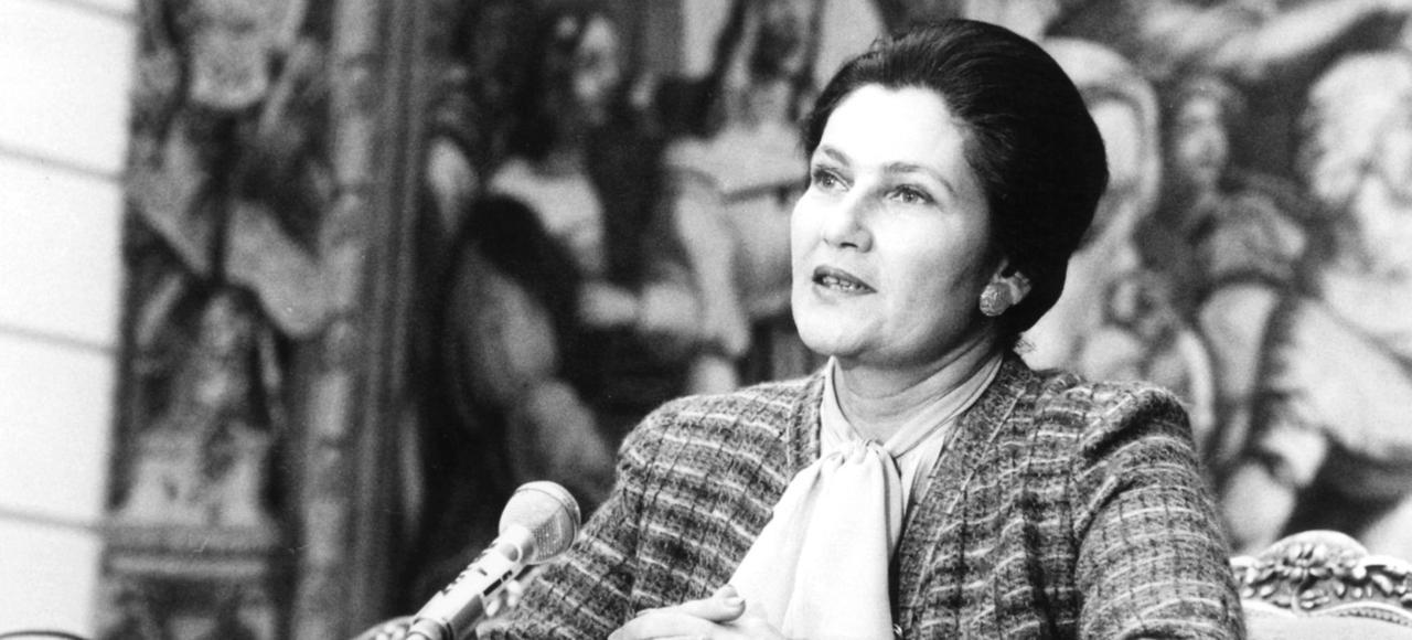 Simone Veil en 1977.