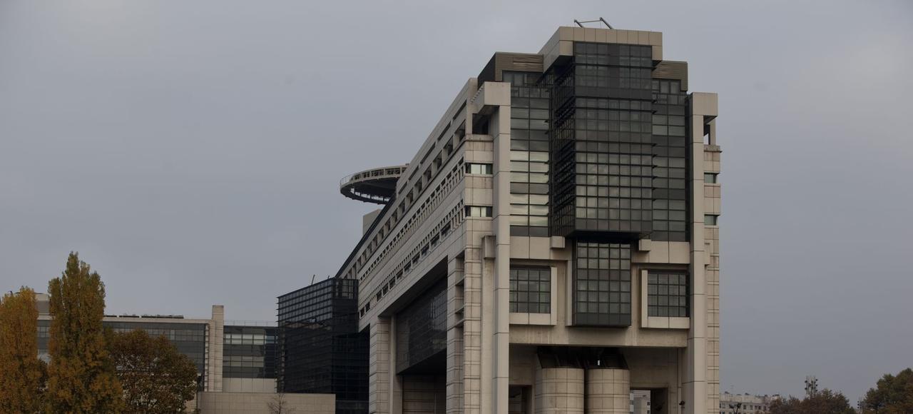 Le ministère de l'Économie, des Finances et de l'Industrie à Paris.