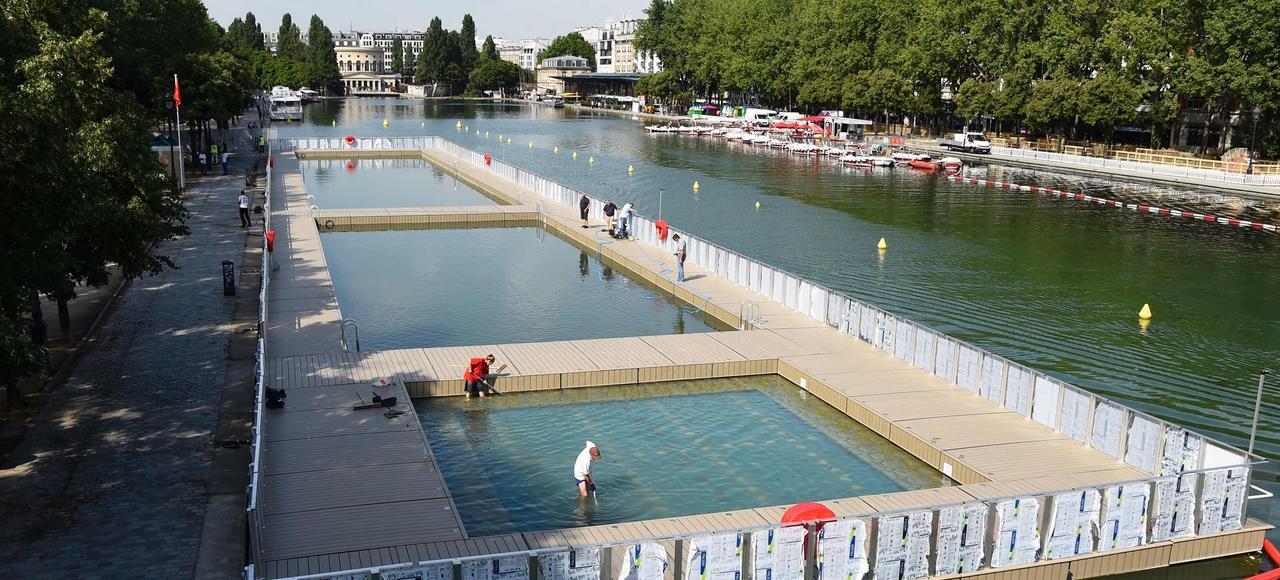 Se baigner en ville bient t une r alit - Piscine plage paris asnieres sur seine ...