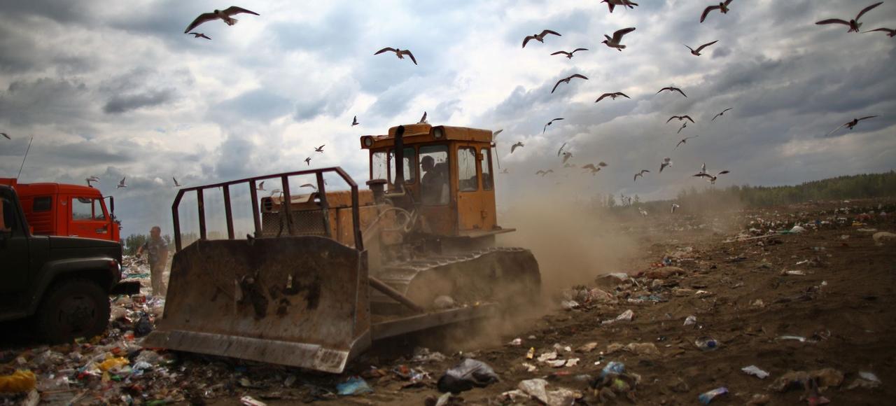 Une décharge près du village de Zavolye (Orekhovo-Zuyevo), dans la région de Moscou. À elle seule, la banlieue moscovite en compte 18, recueillant 11 millions de tonnes de déchets par an issus de la capitale.