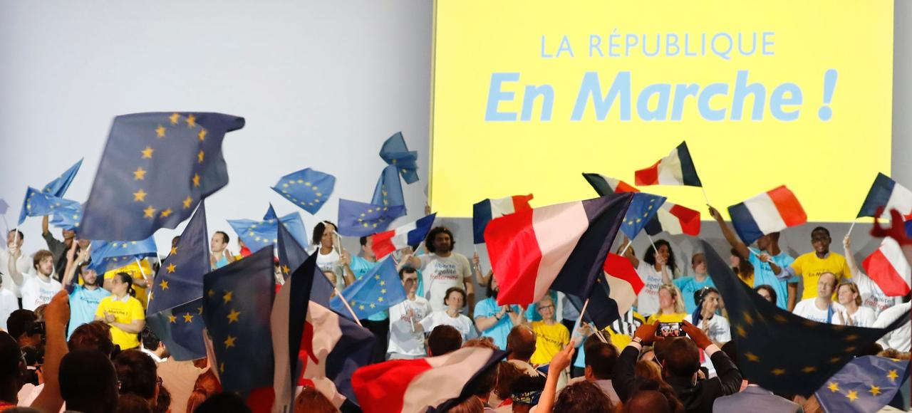 Meeting de La République en Marche, le 8 juillet à Paris.