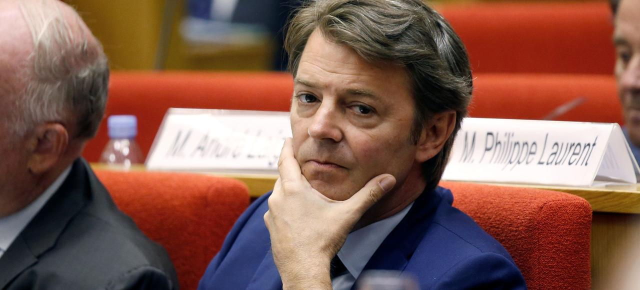 François Baroin lors de la conférence nationale des territoires, au Sénat, à Paris, le 17 juillet 2017.