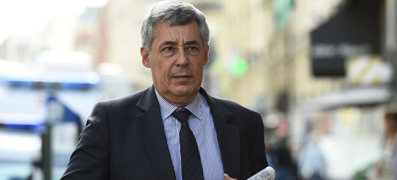 Henri Guaino, le 11 juillet 2017, arrivant au siège des Républicains.