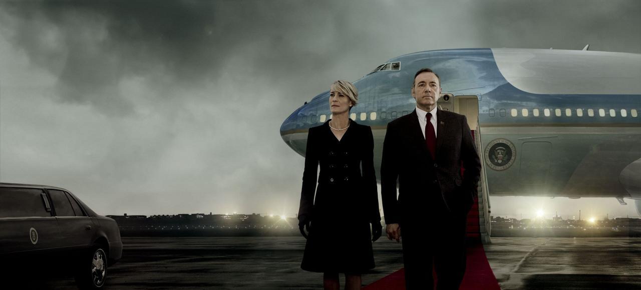Robin Wright et Kevin Spacey dans la Saison 3 de <i>House of Cards,</i> disponible sur Netflix