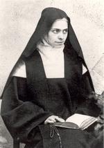 Elisabeth de la Trinité vêtue de l'habit de Carmélite.