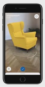 IKEA Place permet de placer des meubles en réalité augmentée chez soi. (IKEA)