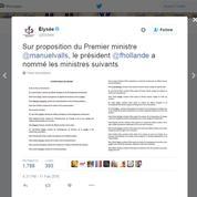 L'Élysée rajeunit encore sa com' et annonce le remaniement sur Twitter