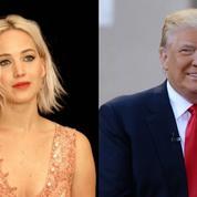 Jennifer Lawrence fait un doigt d'honneur à Donald Trump en direct