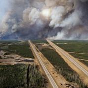 Feux en Alberta: 1,25% de croissance en moins