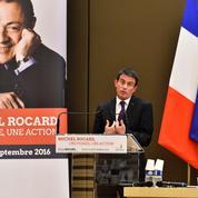 Valls et Macron dessinent deux visions du rocardisme