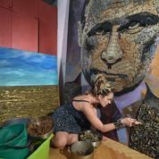Une artiste ukrainienne crée avec des lance-roquettes et des mortiers