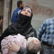 Alep: les enfants victimes des frappes russes et syriennes