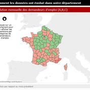 Le tableau de bord du chômage en France
