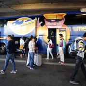 Les chauffeurs de Megabus, une compagnie de cars Macron, en grève