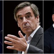 Primaire à droite : Fillon largement en tête devant Juppé, Sarkozy battu
