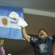 Diego Maradona déchaîné pendant la finale de Coupe Davis