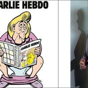 La version allemande de Charlie Hebdo offre un trône à Angela Merkel