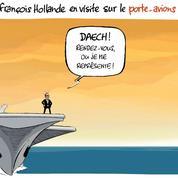 Le dessin d'Ixène : «Sur le Charles-de-Gaulle, test d'une nouvelle arme de dissuasion»