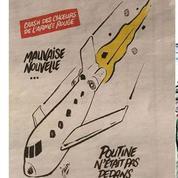 Charlie Hebdo :la Russie indignée par les dessins sur le crash d'avion en mer Noire